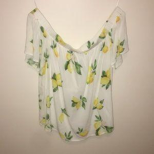 White off shoulder lemon top